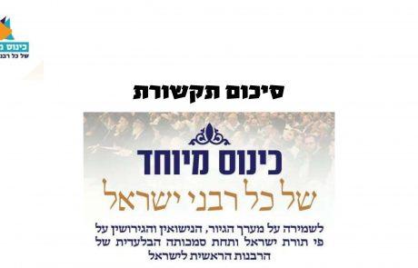 כנס רבני ישראל: פרסומים בתקשורת